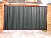 Откатные  распашные автоматические ворота калитки забор из профнастила