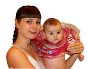 Круг на шею для купания новорожденных KinderenOK:)  от 0 до 24-х мес.