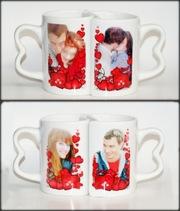 Чашки,  бокалы,  кружки,  кофейные наборы,  тарелки со  Своим фото,  лого!