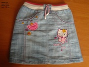 Продам джинсовую юбку для девочки Keety рост110 -122