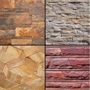 Природный камень: Песчаник,  Болгарский сланец,  Кварцит.