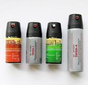 Газовые баллончики для самозащиты Перец,  Терн-4,  Шип-1,  Терн-1. Кобуры