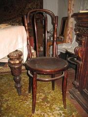 cтол и 4 венских стула