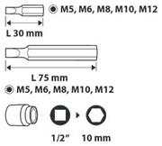 Набор насадок Spline - 11шт,  TOPEX 39D392