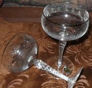 шесть новых бокалов из богемского хрусталя