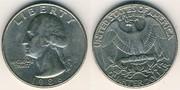 Монета Quarter Dollar,  Liberty 1996 перевертишь