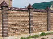 Декоративные блоки с фаской колотые для забора