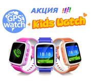 Умные детские часы-телефон Kids Smart Watch Q80 с GPS