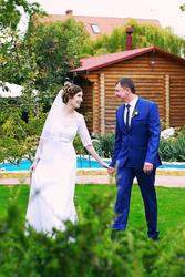 Нежное и элегантное ажурное свадебное платье 2016 г