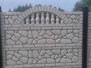еврозаборы бетонные наборные декоративные