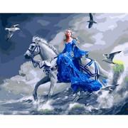 Картина по номерам Девушка на лошади